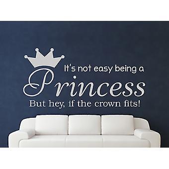 Being A Princess Wall Art Sticker - Grey