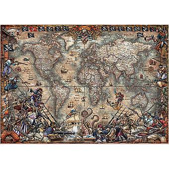Educa Pirates Map Jigsaw Puzzle (2000 Pieces)