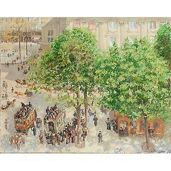 Place du Theatre Francais in Paris,Camille Pissarro,50x40cm
