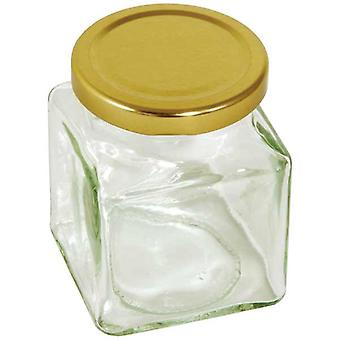 Square preserving jar - 200g  12 oz