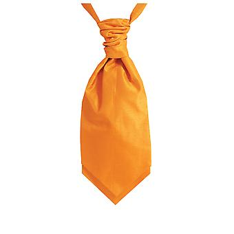 Dobell Boys Orange Cravat Party Wedding Fancy Dress Accessory Dupion