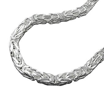 Bracelet 6mm King chain square glossy Silver 925 23 cm