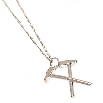 West Ham United FC Sterling Silver Hammers Pendant And Chain