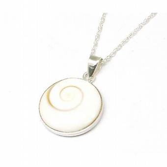 The Olivia Collection Sterling Silver Shell Effect Pendant on 18 Inch Chain