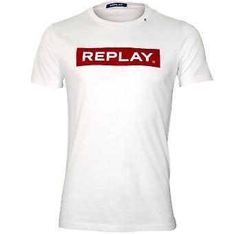 Replay Signature Logo Crew-Neck T-Shirt, White