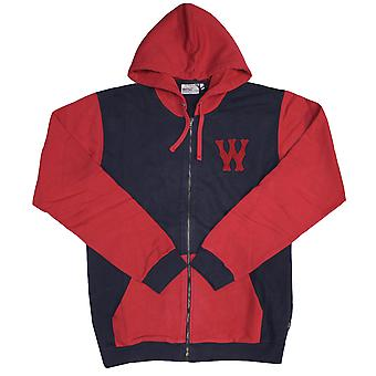 Wesc Franchise Chest Dub Zip Up Hoodie Dark Sapphire
