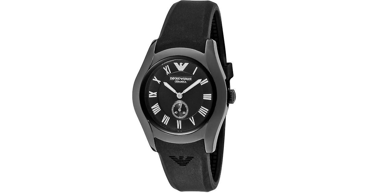 Emporio Armani Ar1432 Black Ceramic Chronograph Ladies Watch
