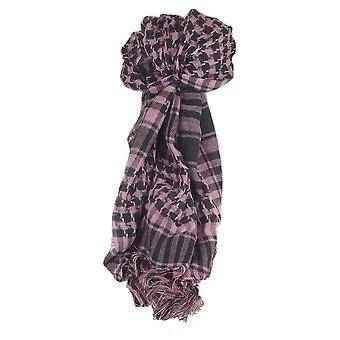 Keffiyeh Arab Grid Scarf Black & Pink by Pashmina & Silk