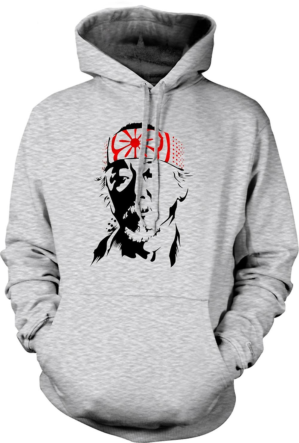Mens Hoodie - Karate Kid Mr Miyagi - Portrait
