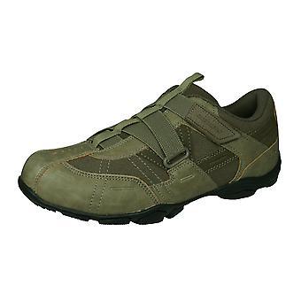 Skechers Marter mężczyźni casual Trenerzy hak i pętla buty-Stone Brown