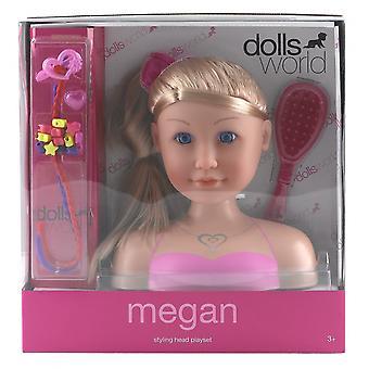 Testa di stile di bambole mondo Megan