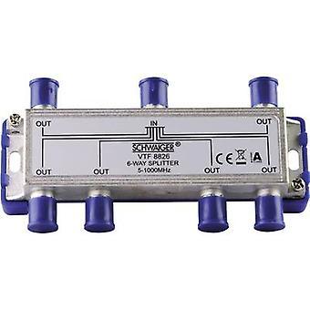 Schwaiger VTF8826 Cable TV distributor 6-way 5 - 1000 MHz