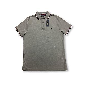 Ralph Lauren Polo regular polo in grey with tipping