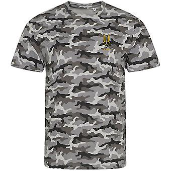 SAS Special Air Service A Sqn - Licensed British Army Embroidered Camouflage Print T-Shirt