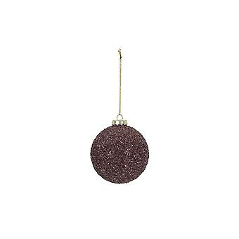 Light & Living Christmas Bauble Round Ø8 Cm BALL Glass Purple Glitter