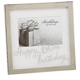 Widdop Birthdays By Juliana Mirror Happy 60th Birthday Print Box Photo Frame