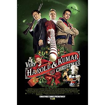 A Very Harold & Kumar Christmas Poster Double Sided Regular (2011) Original Cinema Poster