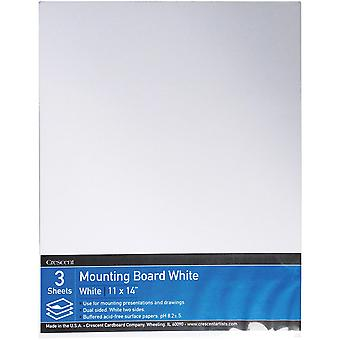 Crescent White Mounting Board Value Pack 3/Pkg-11
