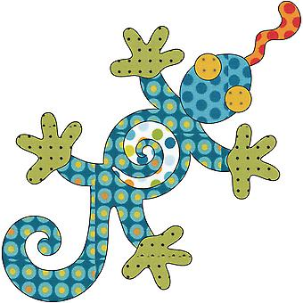 Urban Elementz Fusible Applique-Leapin' Lizard - Dotz UEA0783D