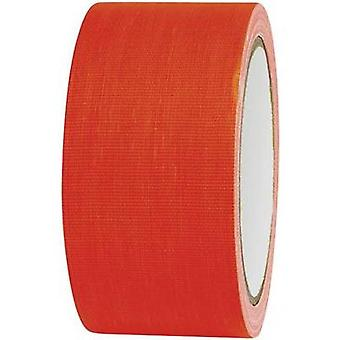 Cloth tape TOOLCRAFT 80FL5025OC Neon orange (L x W) 25 m x 50 mm Hot glue (HMA) Content: 1 Rolls