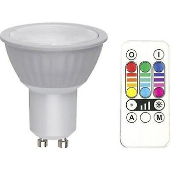 LED GU10 Reflector 3.2 W = 25 W RGB EEC: B dimmable, colour-changing, incl. remote control 1 pc(s)