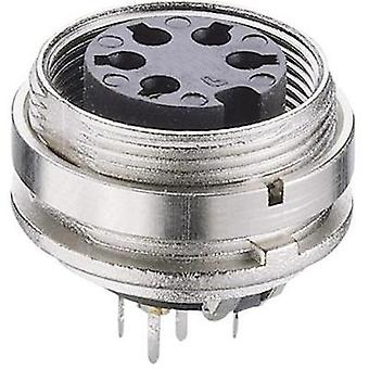 DIN connector Socket, vertical vertical Number of pins: 8 Silver Lumberg KGR 81 1 pc(s)