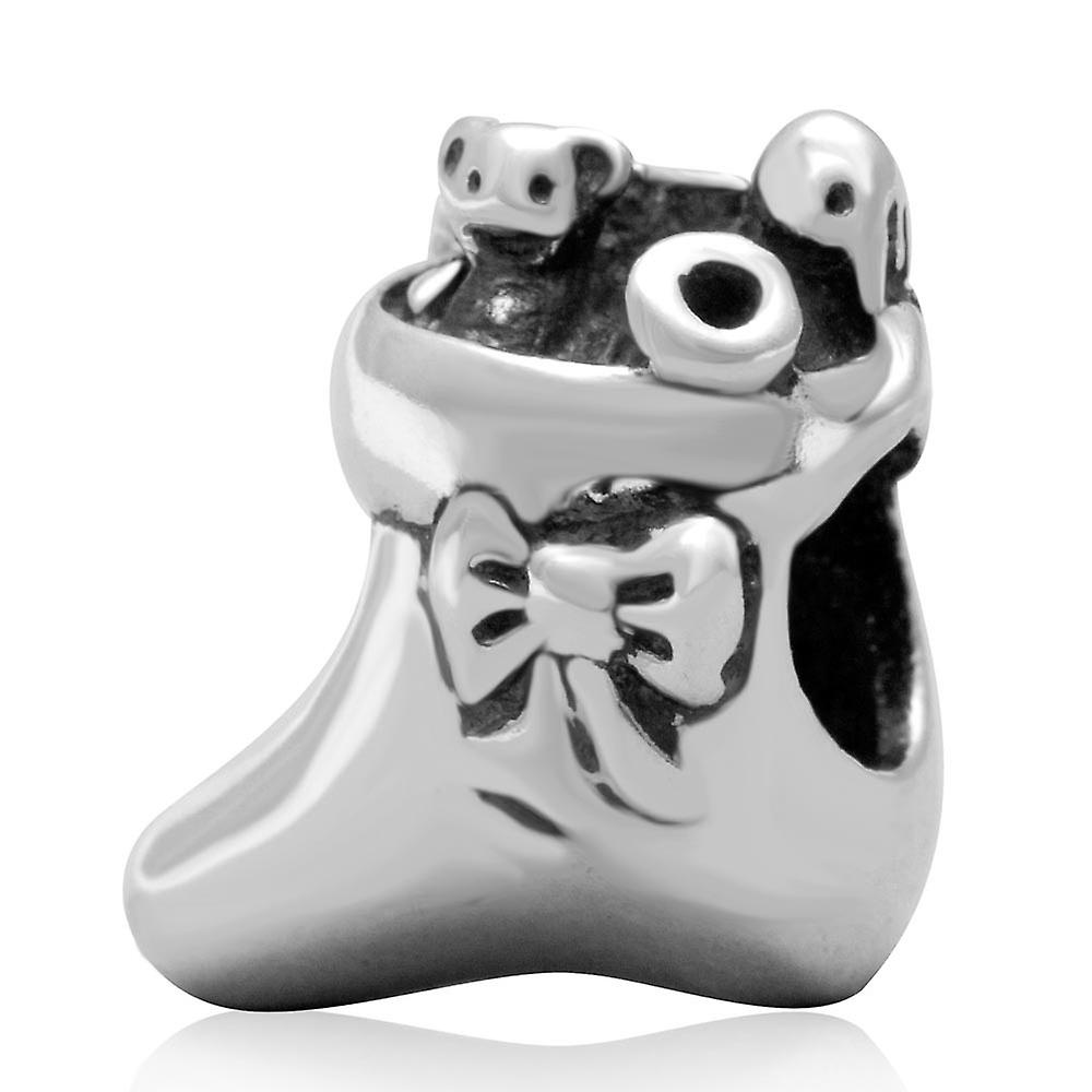 Sterling silver charm shoe shoe shoe with presents SS3103 3c6eab