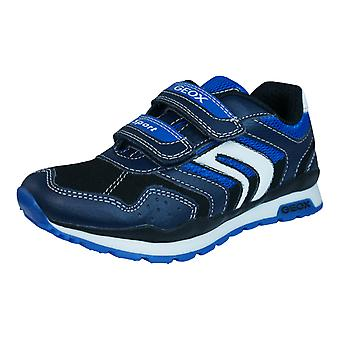 Geox J Pavel B Boys Trainers / Shoes - Navy Blue