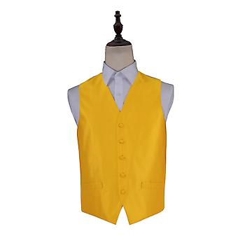 Solid Check Sunflower Gold Wedding Waistcoat