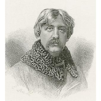 Francis Bret Harte 1836 -1902 American Author And Poet From The Complete Works Of Bret Harte Published 1880 PosterPrint