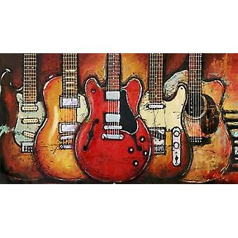 Guitar Collage Poster Print by Bruce Langton