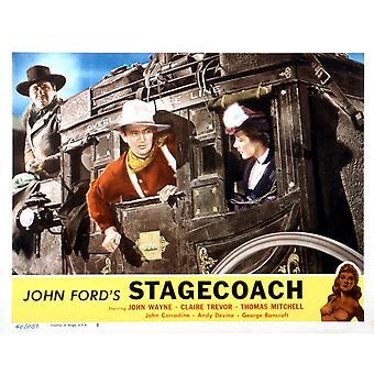 Stagecoach From Left George Bancroft John Wayne Louise Platt 1939 Movie Poster Masterprint
