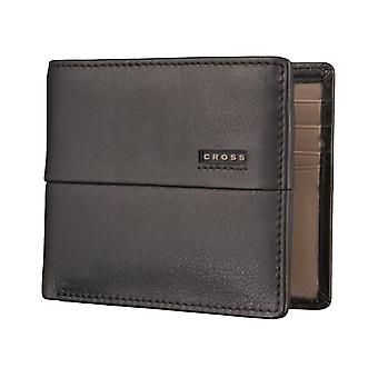 CROSS men's wallet purse wallet of black/taupe