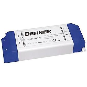 LED transformer Constant voltage Dehner Elektronik LED 12V100W-MM 100 W