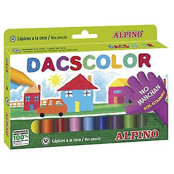 Alpino 12 Waxes Dacs (Kids , School supplies , Writting and coloring , To colour)