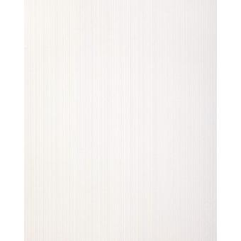 Stripe wallpaper EDEM 557 10 structured foam vinyl wallpaper 5.33 m2 in a textile look matt pure white grey white