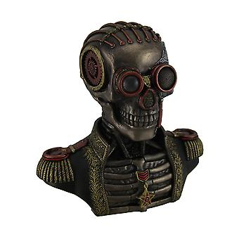 Steampunk Skeleton In Band Uniform Trinket Box Statue