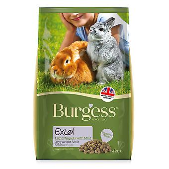 Burgess Excel Light Rabbit Nuggets With Mint 4kg (Pack of 2)