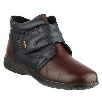 Cotswold Chalford Ladies Ankle Boots Textile Leather with Velcro Fastening