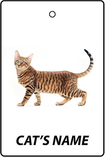 Personalised Toyger Cat Car Air Freshener