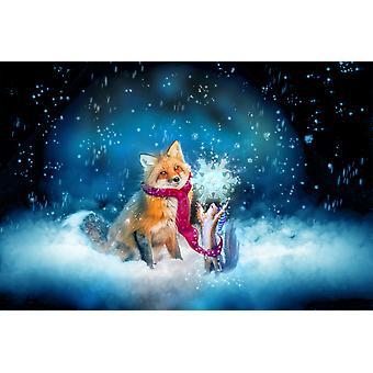 Første sne plakat Print af Aimee Stewart