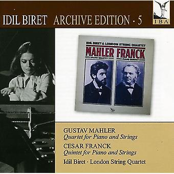 Mahler/Franck - Idil Biret Edition, Vol. 5: Kvartett för Piano & strängar [CD] USA import