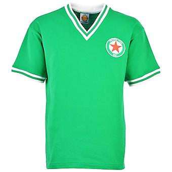 Rosso stelle Parigi 1970 Retro Football Shirt