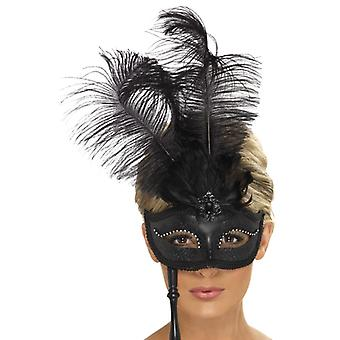 Barock fantasy eye mask, svart