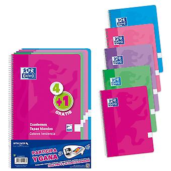 Oxford Pack 5 Blocs 90 Gr F 80 (Toys , School Zone , Notebooks And Folders)
