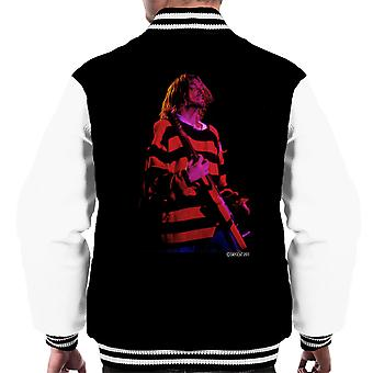 Kurt Cobain Nirvana Guitar Men's Varsity Jacket