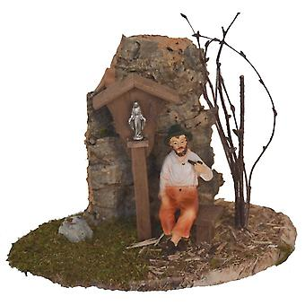 Madonna way Madonna wayside cross Bank, rock and Grandpa for Christmas Nativity crib accessories
