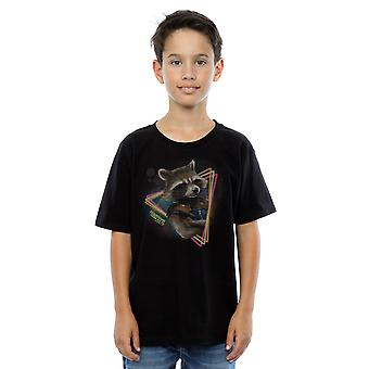 Marvel Boys Guardians of the Galaxy Neon Rocket T-Shirt