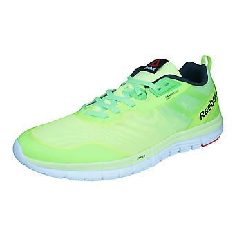 Reebok ZQuick Soul Mens Running Trainers / Shoes - Green and Yellow