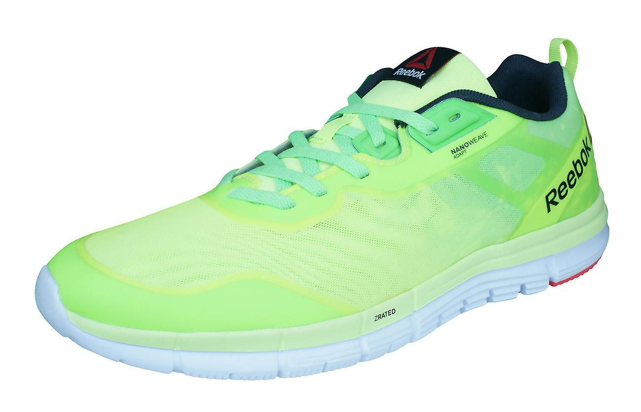 Reebok ZQuick Soul Mens Running Trainers   chaussures - vert and jaune